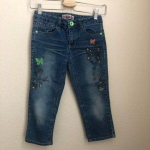 Squeeze Jeans Straight Leg Butterfly and Hearts